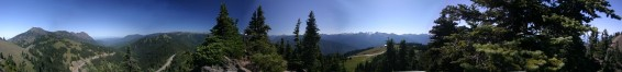 A panorama of the olympic peninsula